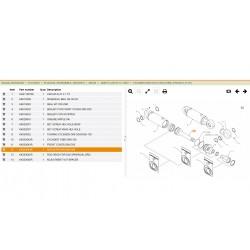 Wałek Kverneland pług obrotowy siłownik cylinder KK353644R 353644R